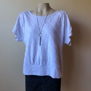 Tops - XL White layered top